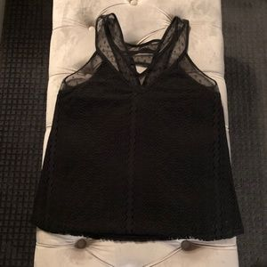 Socialite Black Lacy Tank Top